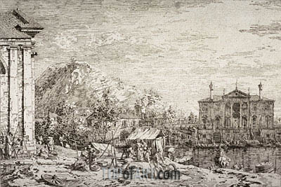 The Market at Dolo, undated | Canaletto | Painting Reproduction