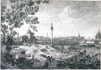 Imaginary View of Padua, 1742 | Canaletto | Painting Reproduction
