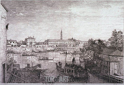 Ale Porte del Dolo, c.1735/44 | Canaletto | Painting Reproduction