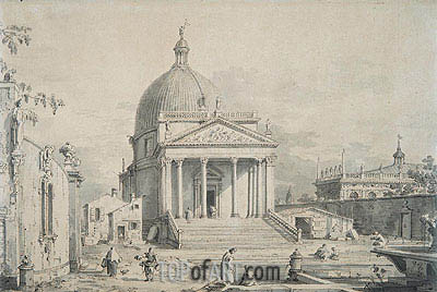 Veduta Ideata with San Simeone Piccolo, c.1735 | Canaletto | Painting Reproduction