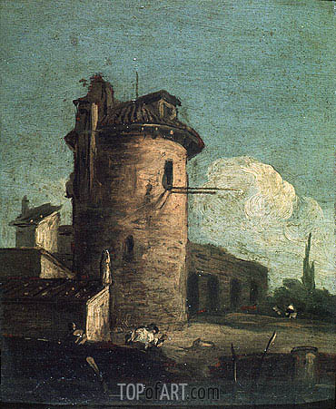 View with Ruins, undated | Canaletto | Gemälde Reproduktion