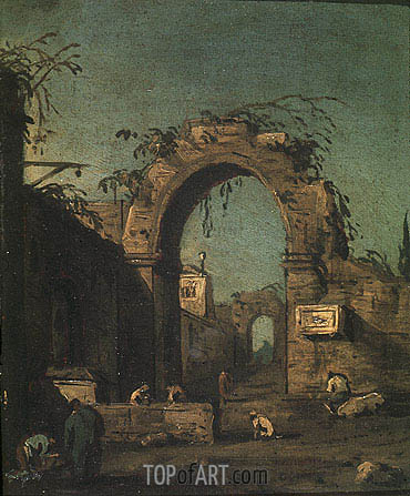 View of an Ancient Doorway, undated | Canaletto | Gemälde Reproduktion
