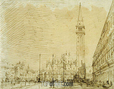 San Marco and the Piazza Looking East, c.1725 | Canaletto | Gemälde Reproduktion