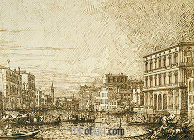 A View on the Lower Reaches of the Grand Canal, c.1730 | Canaletto | Painting Reproduction