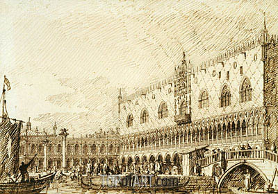 The Palazzo Ducale and Molo, c.1734 | Canaletto | Gemälde Reproduktion