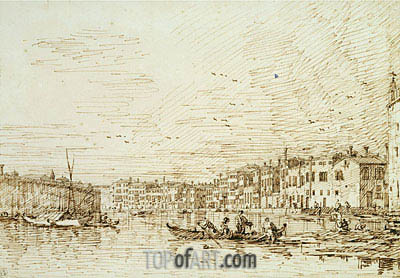 The Upper Reach of the Grand Canal, Looking South, c.1734 | Canaletto | Gemälde Reproduktion