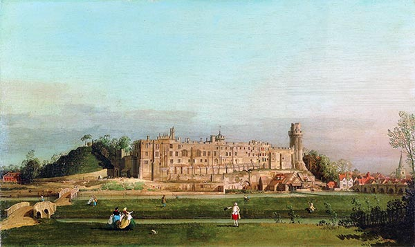 Warwick Castle, 1748 | Canaletto | Painting Reproduction