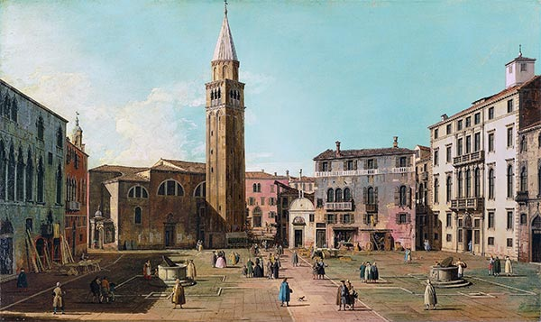 Campo Sant'Angelo, Venice, c.1730/40 | Canaletto | Painting Reproduction