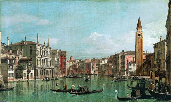 The Grand Canal, Venice, Looking Southeast, with the Campo della Carità to the Right, c.1730/40 | Canaletto | Painting Reproduction