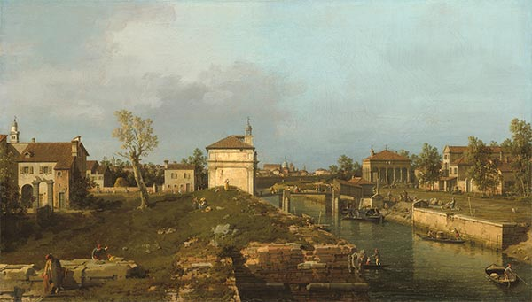 The Porta Portello, Padua, c.1741/42 | Canaletto | Gemälde Reproduktion