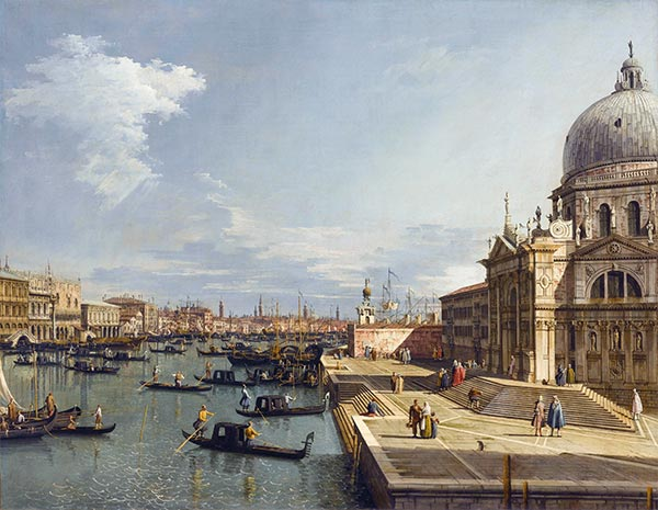 Entrance to the Grand Canal and Santa Maria della Salute, c.1735/40 | Canaletto | Painting Reproduction