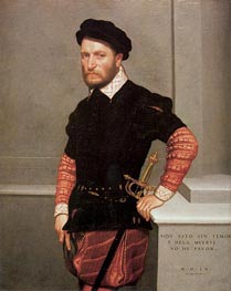 Don Gabriel de la Cueva, Count of Albuquerque, 1560 von Giovanni Battista Moroni | Gemälde-Reproduktion