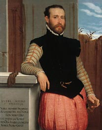 Portrait of Prospero Alessandri, 1560 by Giovanni Battista Moroni | Painting Reproduction