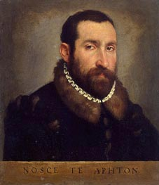 Portrait of a Man, c.1565 von Giovanni Battista Moroni | Gemälde-Reproduktion