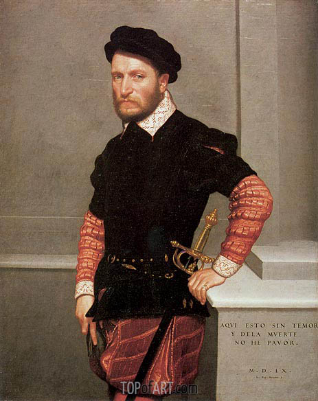 Don Gabriel de la Cueva, Count of Albuquerque, 1560 | Giovanni Battista Moroni | Painting Reproduction