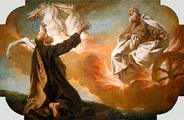 Elijah Taken Up in a Chariot of Fire, c.1740/54 by Giovanni Battista Piazzetta | Painting Reproduction
