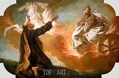 Elijah Taken Up in a Chariot of Fire, c.1740/54 | Giovanni Battista Piazzetta | Painting Reproduction