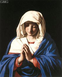 The Virgin in Prayer, c.1640/50 by Sassoferrato | Painting Reproduction