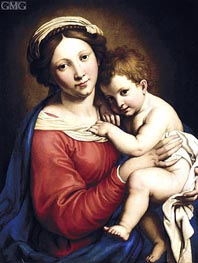 The Madonna and Child, undated by Sassoferrato | Painting Reproduction