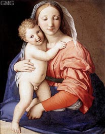 Madonna and Child, c.1650 by Sassoferrato | Painting Reproduction