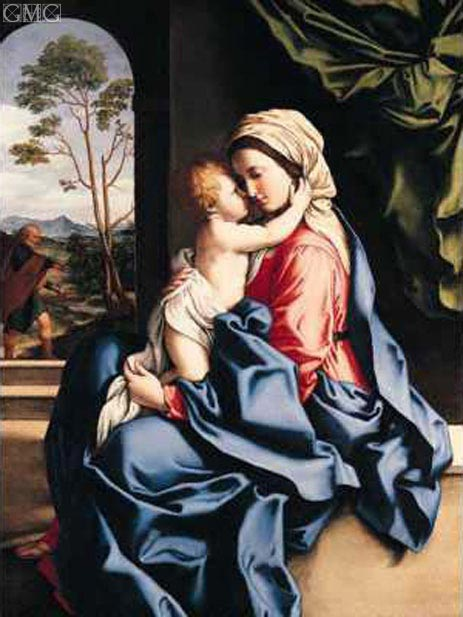 The Virgin and Child Embracing, c.1660/85 | Sassoferrato | Painting Reproduction