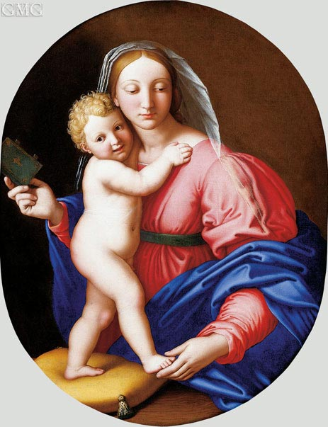 Madonna and Child with Book, undated | Sassoferrato | Painting Reproduction