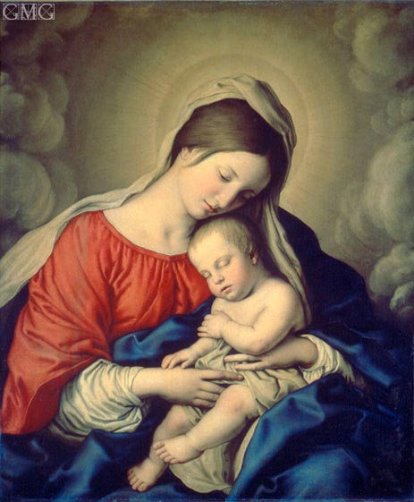 The Virgin and Child, 1640s | Sassoferrato | Painting Reproduction