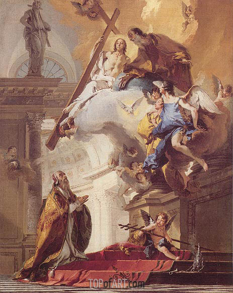 The Trinity Appearing to Saint Clement, c.1730/35 | Tiepolo | Gemälde Reproduktion