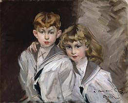 The Two Children, Undated by Giovanni Boldini | Painting Reproduction