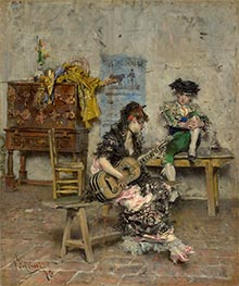 Guitar Player, 1872 by Giovanni Boldini | Painting Reproduction