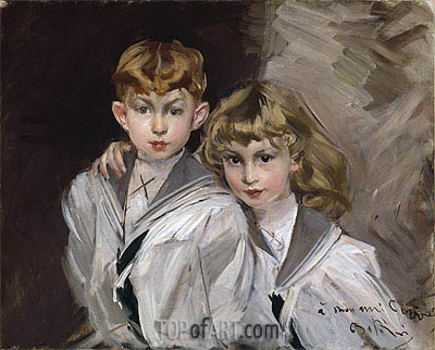The Two Children, Undated | Giovanni Boldini | Painting Reproduction