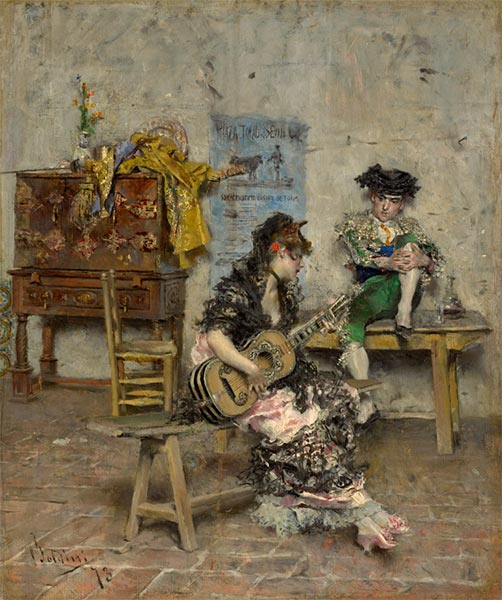 Guitar Player, 1872   Giovanni Boldini   Painting Reproduction