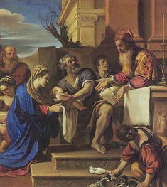 Presentation in the Temple, c.1623 von Guercino | Gemälde-Reproduktion