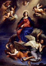 Assumption of the Virgin | Guercino | Painting Reproduction