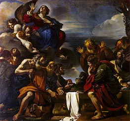 The Assumption of the Virgin, 1623 von Guercino | Gemälde-Reproduktion