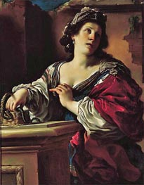 Suicide of Cleopatra | Guercino | Painting Reproduction
