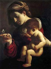 Madonna of the Sparrow | Guercino | Painting Reproduction