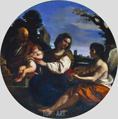 Rest on the Flight into Egypt, 1624 | Guercino | Painting Reproduction