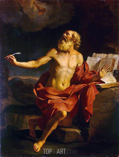 St Jerome in the Wilderness, c.1650 | Guercino | Gemälde Reproduktion