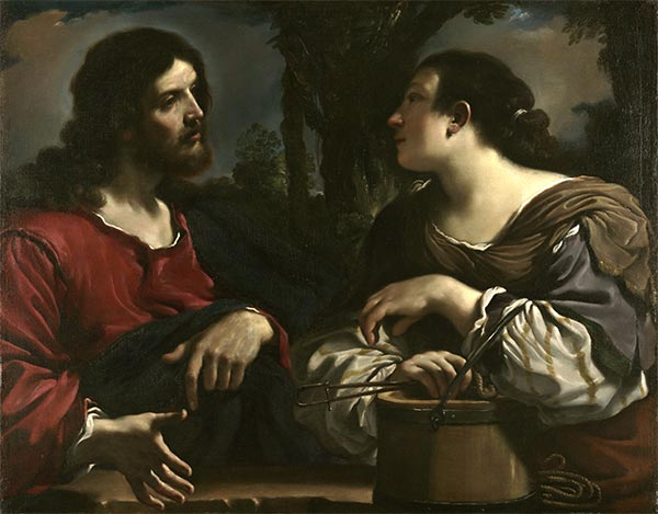 Christ and the Woman of Samaria, c.1619/20 | Guercino | Painting Reproduction