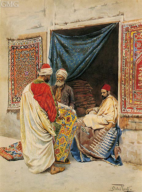 The Carpet Merchant, undated | Giulio Rosati | Painting Reproduction