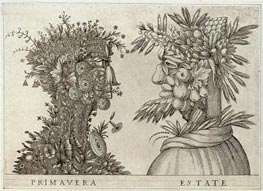 Spring and Summer, undated von Arcimboldo | Gemälde-Reproduktion