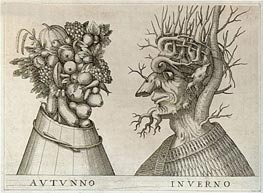 Autumn and Winter, undated von Arcimboldo | Gemälde-Reproduktion