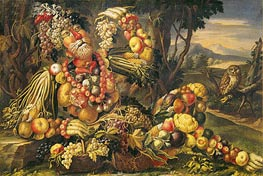 Fall (Autumn) | Arcimboldo | Painting Reproduction