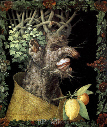 Winter, 1573 | Arcimboldo | Gemälde Reproduktion