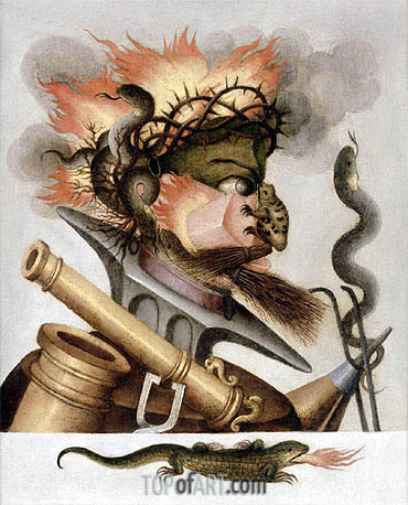 An Allegory of Fire, undated | Arcimboldo | Painting Reproduction