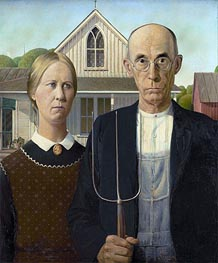 American Gothic, 1930 by Grant Wood | Painting Reproduction
