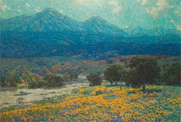 California Poppy Field, c.1926 by Granville Redmond | Painting Reproduction