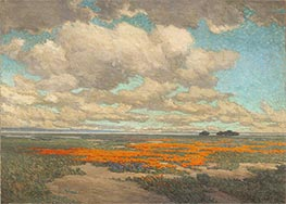 A Field of California Poppies | Granville Redmond | Painting Reproduction