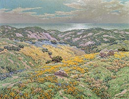 Sand Dunes, undated by Granville Redmond | Painting Reproduction